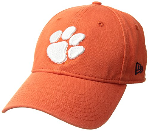 (New Era Men's Clemson Tigers Core Classic Orange One Size Fits)