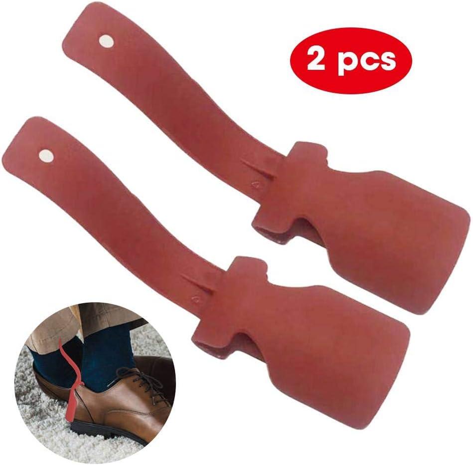 Portable Chausse-Pieds Shoe Lifting Helper pour Hommes//Femmes//Enfants//Personnes /âg/ées//Handicap/ées Toutes Les Chaussures Lazy Shoe Helper Chausse-Pied en Plastique /à Easy on et Easy Off