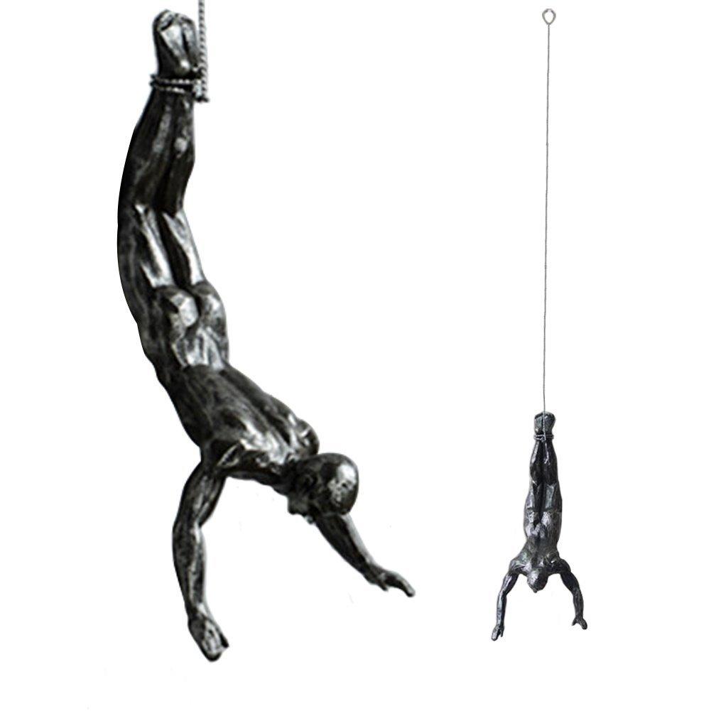 """Da Jia Inc, Einzigartige Kunstharzfiguren   Skulpturen zum Aufhängen """"Kletternder Mann  - 3 Figuren Posture 1"""