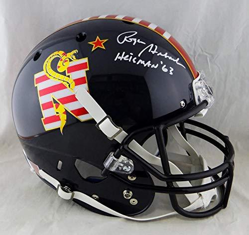 Roger Staubach Signed Navy Midshipmen F/S DTOM Helmet w/Heisman - Beckett Auth