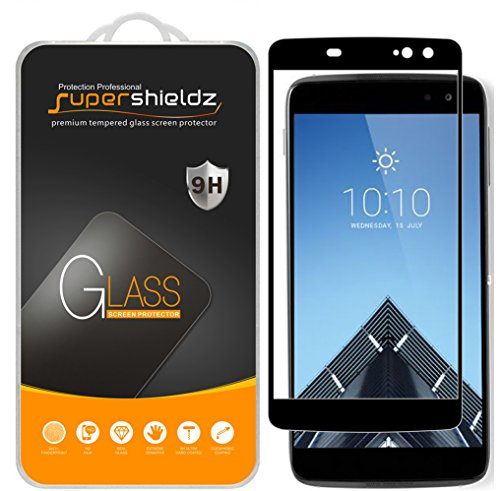 Supershieldz [2-Pack] for Alcatel Idol 4S Tempered Glass Screen Protector, [Full Screen Coverage] Anti-Scratch, Bubble Free (Black)