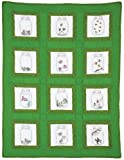 Jack Dempsey Needle Art 737537 Creatures Theme Quilt Blocks, 12 Quilt Blocks, 9-Inch-by-9-Inch, White