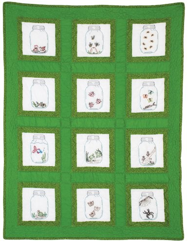 Jack Dempsey Needle Art 737537 Creatures Theme Quilt Blocks, 12 Quilt Blocks, 9-Inch-by-9-Inch, ()