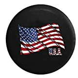 Waving United States American Flag USA Spare Tire Cover