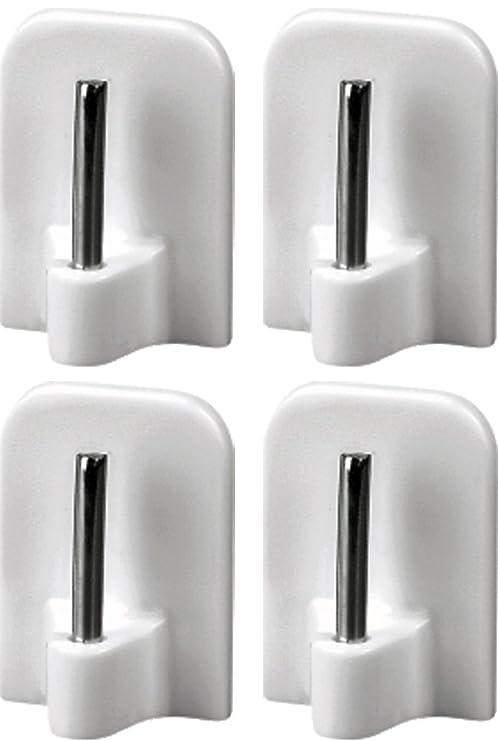 4 Gardinenhaken selbstklebend Klebehaken für Gardinenstangen Haken
