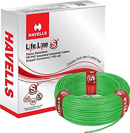 Havells Lifeline Cable WHFFDNGA1X75 0.75 sq mm Wire (Green)
