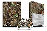 Designer Skin Sticker for the XBOX ONE S Console With Two Wireless Controller Decals – Woodland Camo For Sale