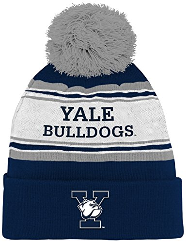 - NCAA by Outerstuff NCAA Yale Bulldogs Kids & Youth Boys Jacquard Cuffed Knit Hat w/ Pom, Dark Navy, Youth One Size
