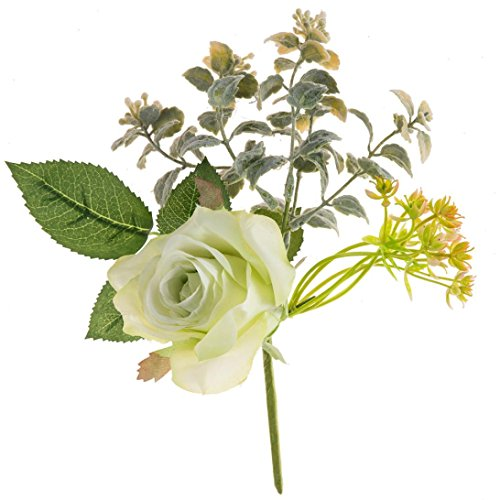 GoodLock Artificial Fake Roses Plastic Flower Bridal Bouquet Wedding Party Home Decor (Green)
