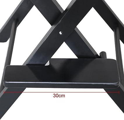 PROGEN - Silla de oficina plegable portátil y resistente para maquillaje, telescopio de artista, silla de salón con bolsas laterales: Amazon.es: Hogar