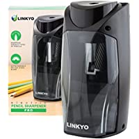 Linkyo LY-EPS-MSBK Electric Pencil Sharpener Pro with Multi Size Insert Slot (Black)