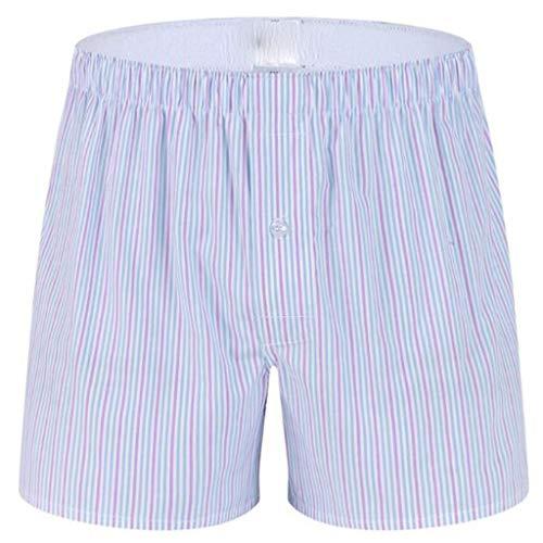 Fitfulvan Men's Boxer Briefs Pajama Casual Household Arrow Home Shorts Pants Underwear Flat Angle Striped Pajama Pink