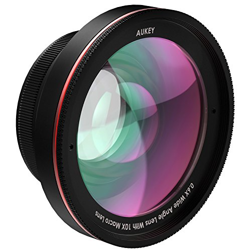 Amazon Lightning Deal 67% claimed: AUKEY Ora iPhone Lens, 100° Wide Angle + 10x Macro Clip-on Cell Phone Camera Lens Kit for Samsung, Android Smartphones, iPhone