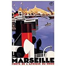 "Vintage French Art Deco Reproduction Poster ""Port Marseille"" by Roger Broders (25""x38"")"