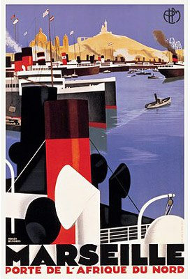 Cruise Art Deco Print (Vintage French Art Deco Reproduction Poster