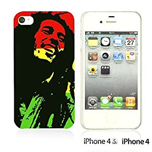 OnlineBestDigital - Art Paintings Hardback Case for Apple iPhone 4S / Apple iPhone 4 - Bob Marley