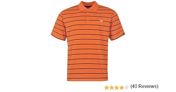 Dunlopara Hombre diseño de Rayas Golf Polo de Manga Corta en la ...