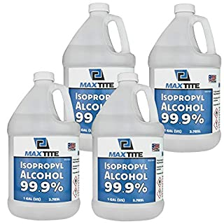 MaxTite Isopropyl Alcohol 99.9% (4 Pack, 1 Gallon)