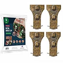 Brick Clips Hanger [Set of 4] Metal Brick Clip for Hanging Outdoors, Hanging Wreaths, Hanging Garlands, Hanging Lights, Hanging Wall Pictures & All Decor Hanging - Holds Up to 25 Pounds - Made in USA