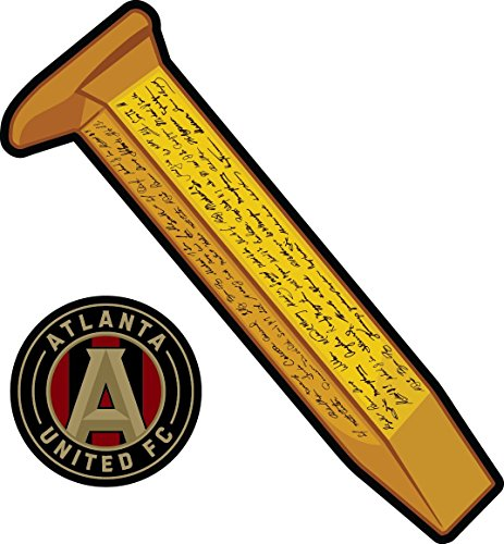 United Die Decal Cut (Atlanta United Golden Spike - 2 in 1Sticker - Die-Cut, Vinyl, All-Weather, Waterproof, Super Adhesive, Outdoor & Indoor Use Sticker. Includes Free Bonus Sticker.)