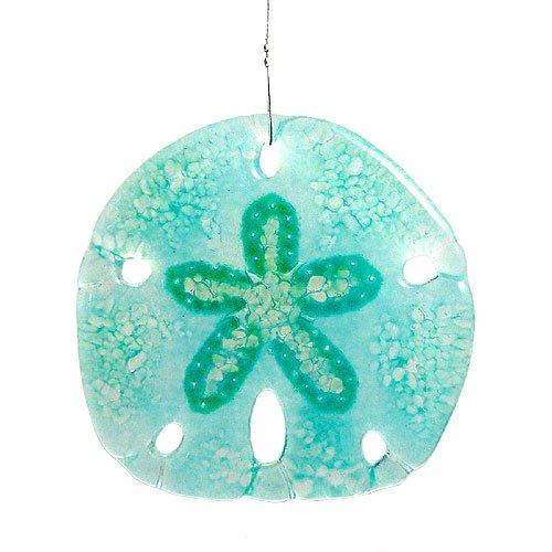 Modern Artisans Sand Dollar Fused Glass Sun Catcher,