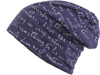 Shuzhen,Cappelli in Maglia a Vento per Uomo e Donna Europei e Americani Cappello Caldo Semplice Autunno Inverno Moda(Color:Blu Scuro Size:M (56-58cm))