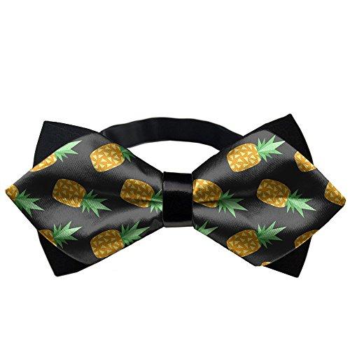 American Pineapple - AMERICAN TANG Mens Black Bowtie Gift Pineapples Bow Ties For Men Teen Boys