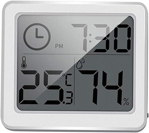 Digital LCD Thermometer Humidity Meter Room Temperature Indoor Hygrometer Clock