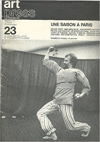 Téléchargement Art Press International. Décembre 1978 N. 23. Une saison a Paris pdf ebook