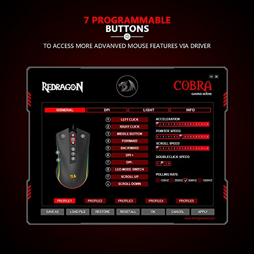 51BYSjooM7L - Redragon-M711-COBRA-Gaming-Mouse-with-168-Million-Chroma-RGB-Color-Backlit-10000-DPI-7-Programmable-Buttons