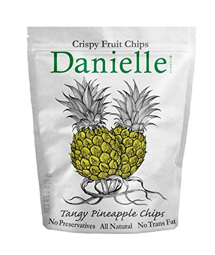 Danielle Chips, Tangy Pineapple, 2 Ounce (Pack of 6)