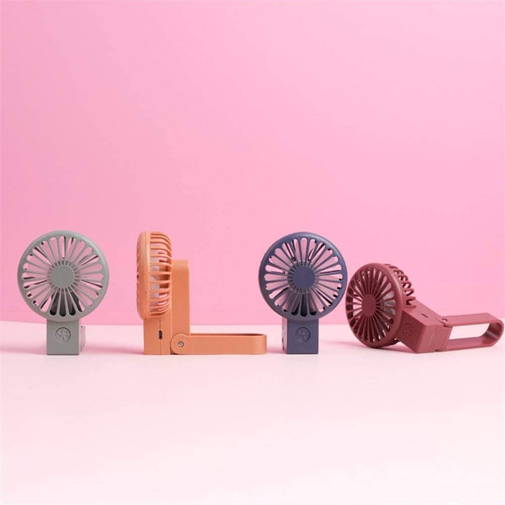 Color : 04 Happy Roam Convenient Convenient Fashion USB Fan Folding Pocket Fan Portable USB Charging with Light 7 Leaf Mini Fan Fashion