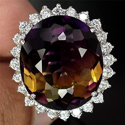 Amazon.com: Narubodin Kanyapat Charm 925 Silver Ametrine Gemstone Women Jewelry Wedding Gift Ring Size 6-10 (10): Home & Kitchen