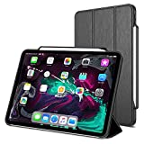 Trianium Case Compatible for 11-inch iPad Pro Case (2018) [Holder for Apple Pencil Charging ENBL] Heavy Duty Full-Body Rugged Protective Cover Stand Auto Wake Sleep Design Work w Apple iPad Pro 11