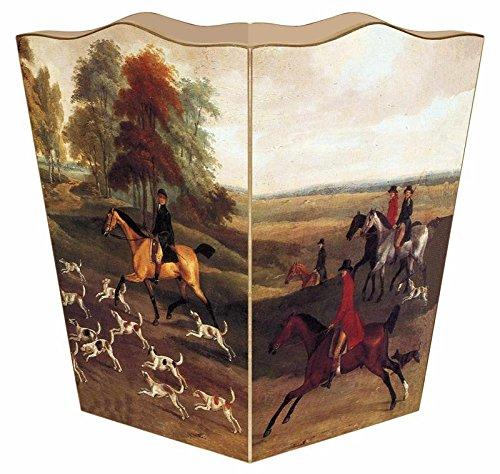 Scene Hunt English - Marye-Kelley WB227-English Hunt Scene Wastepaper Basket