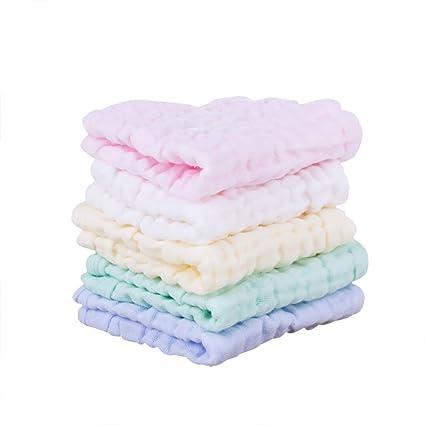 Toalla de muselina para bebé de algodón natural para recién nacido, toalla para la cara
