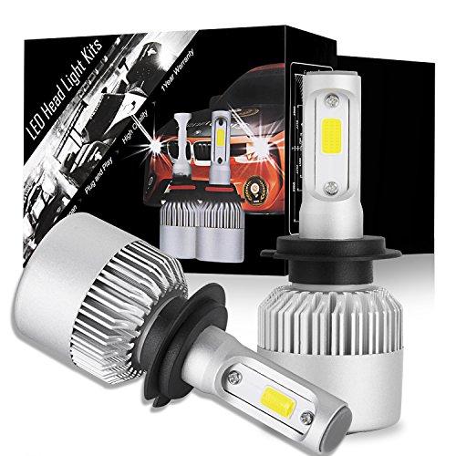 DJI 4X4 H7 LED Headlight Bulbs Conversion Kit, Advanced CREE LED Chips 100W 10000 Lumen Automotive Headlamp Bulb 6000K Cool White - 1 Pair