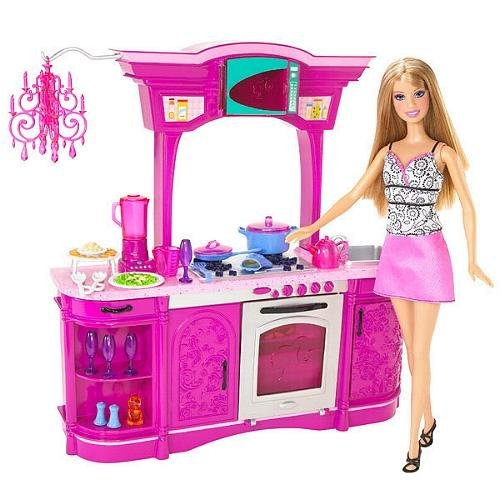 Barbie glam kitchen set images for Kitchen set games