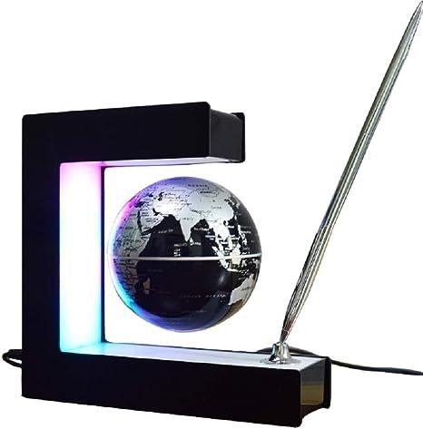 YLOVOW Mundo Flotante de levitación magnética del Globo terráqueo ...