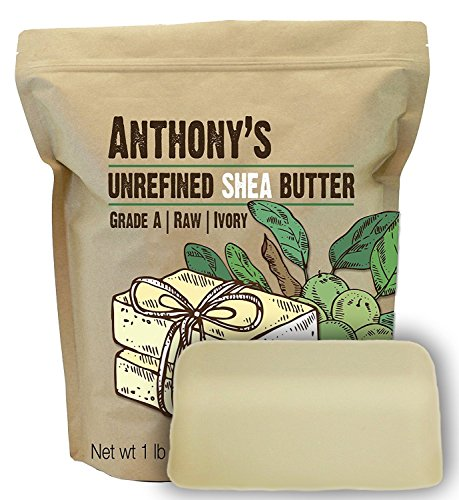 Anthony's Unrefined Shea Butter (1lb) African. Raw, Pure, Grade A, Ivory