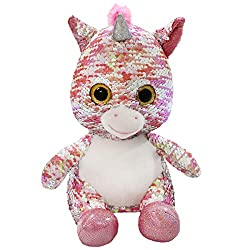 Reversible Glitter Sequins Stuffed Unicorn Plush Toy