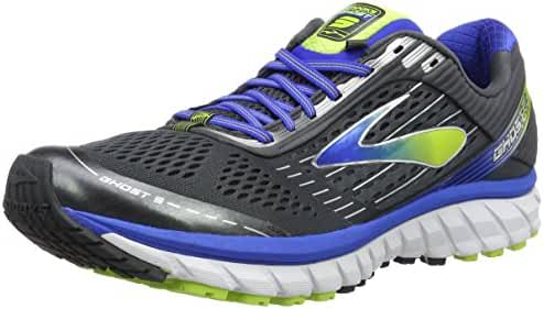 Brooks Men's Ghost 9 Anthracite/Electric Brooks Blue/Lime Punch Sneaker 12.5 D (M)