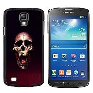 Qstar Arte & diseño plástico duro Fundas Cover Cubre Hard Case Cover para Samsung Galaxy S4 Active i9295 (Cráneo Blood Vampire)