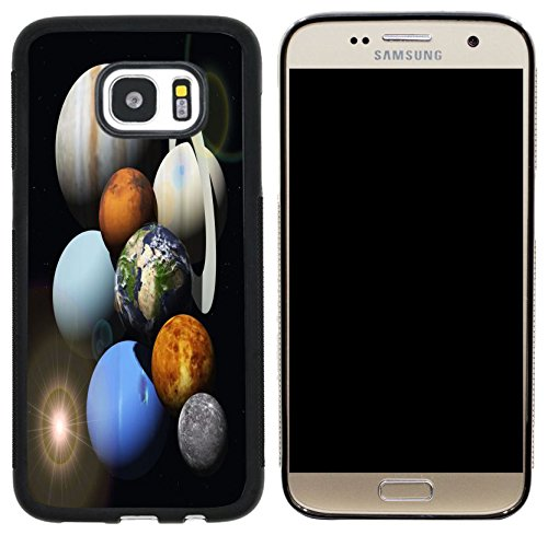Rikki Knight Solar System Planets Design Case Cover for Samsung Galaxy S7 - Black