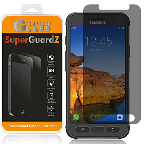 [2-Pack] For Samsung Galaxy S7 Active [NOT Fit Samsung S7] - SuperGuardZ Privacy Anti-Spy Tempered Glass Screen Protector, 9H Anti-Scratch, 2.5D Round Edge, Anti-Bubble [Lifetime Replacements]