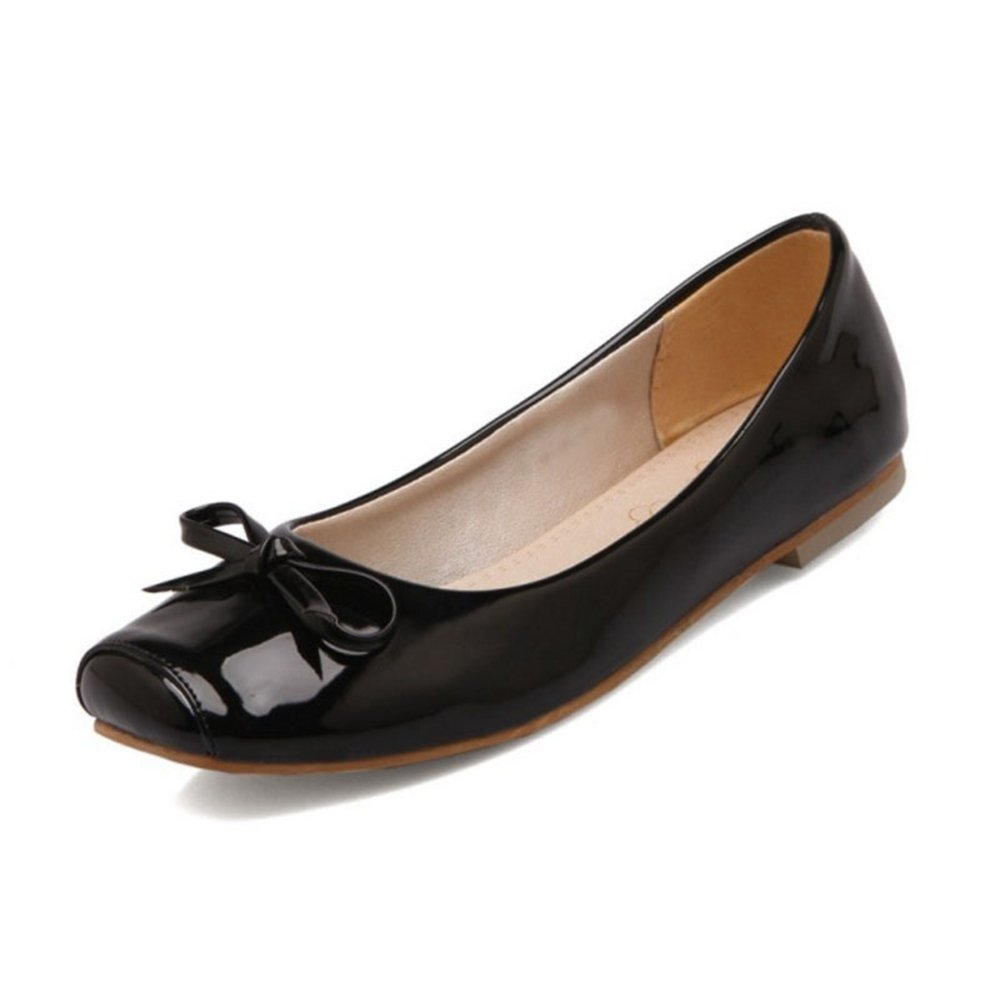 CuteFlats Women Flats with Square Toe and Casual Flats with Large B07FD25819 45 EU = 11.5 US|Black