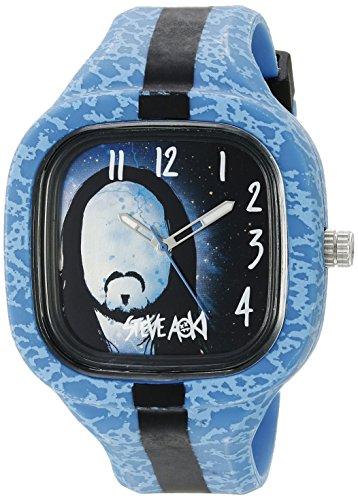 Steve Aoki Men's SA 2001 BL Analog Display Japanese Quartz Blue Watch
