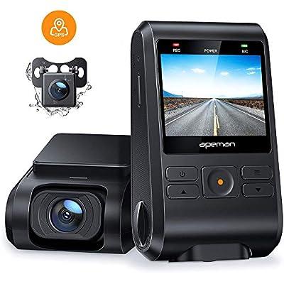 APEMAN Dual Dashcam C550, Vorne und Hinten Versteckten Autokamera, 1080P FHD IPS Bildschirm, Nachtsicht, WDR, G-Sensor…