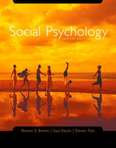 Social Psychology: Text with CD-ROM and Critical Thinking Reader