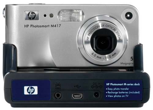 HP Photosmart M417 5MP Digital Camera with 3x Optical Zoom &